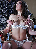 Brunette roped, pegged, waxed, whipped, used