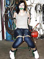 Julia chair-tied and ball-gagged