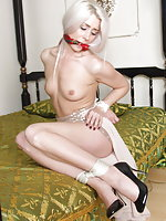 Beautiful girls - bound and gagged and helpless