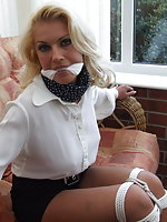 Pretty secretaries bound and gagged